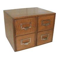 Four Drawer Oak File Cabinet