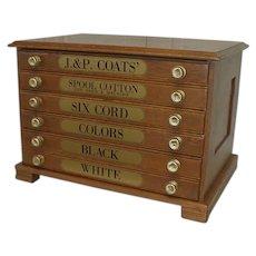Oak Spool Thread Cabinet by J. P. Coats