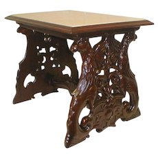 Victorian Mahogany Table with Stone Insert