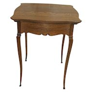 Oak Victorian Lamp Table or Victrola Table
