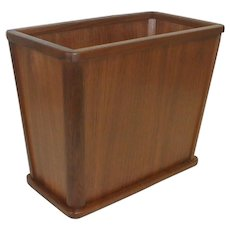 Walnut Office Trash Can from Grand Rapids Michigan