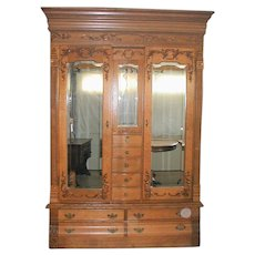 Oak KARGES  Victorian Wardrobe with Lingerie Section