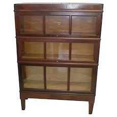 Macey Mahogany Sectional Bookcase  Circa 1906