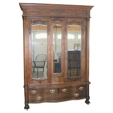 KARGAS Oak Wardrobe with Lingerie Section