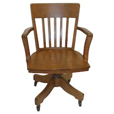 Large Oak Office Chair