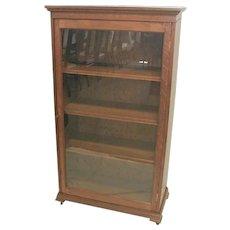 Oak Bookcase with Glass Door