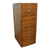 Oak Legal File Cabinet Circa 1905