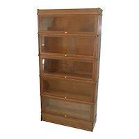 Oak Sectional D Size Bookcase by Globe Wernicke