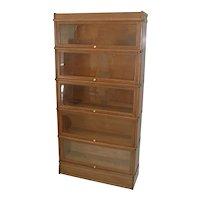 Oak Sectional D Size Bookcase by Globe Wernicke