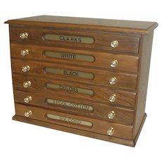 Clark's Spool Cabinet 6 Drawers Circa 1900