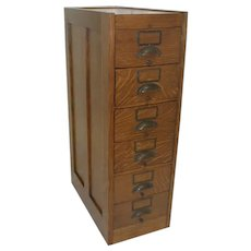 Globe 6 Drawer File Cabinet for Letters Envelopes circa 1910