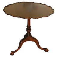 Colonial Revival Tea Table with Birdcage