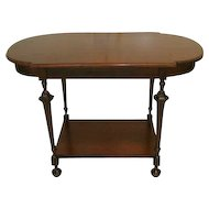 Mahogany Parlor Table or Sofa Table with Drawer