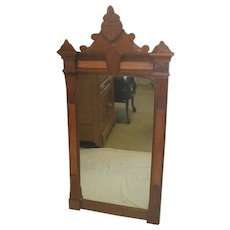 Walnut  Victorian Eastlake Wall Mirror