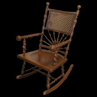 19th Century Cherry Hunzinger Rocking Chair
