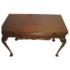 Mahogany Chippendale Adjustable Sofa Table, Game Table, Dining Table