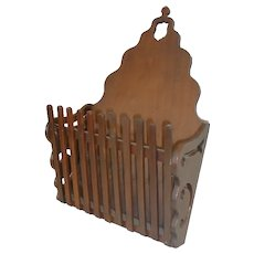 Victorian Mail Holder  in Walnut Circa 1880
