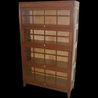 Mahogany Sectional Bookcase by GUNN  Circa 1900