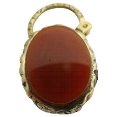 Double sided beautiful carnelian and blood stone engraved padlock