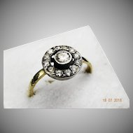 Diamond daisy ring 1920 0.60ct 18ct and platinum setting