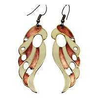 Vintage enamel earrings