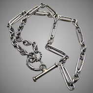 Silver double link Albert neck chain