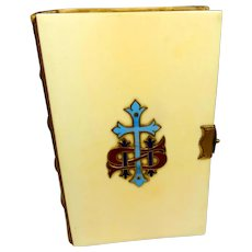1860s/70s Book Of Common Prayer, celluloid and enamel cover, Eyre and Spottiswoode