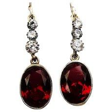 Vintage crystal and paste drop earrings