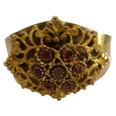 Gorgeous Georgian, gilt metal bracelet cuff