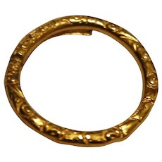 Gold chased  ring
