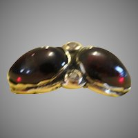 Gorgeous garnet and diamond ring