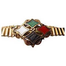 Gorgeous Victorian Scottish agate bracelet