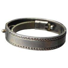 Sterling silver Art Deco cravat oblique scarf ring