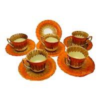 Beautiful Myott & Son handpainted coffee set