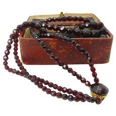 A Gorgeous Bohemian garnet beaded necklace