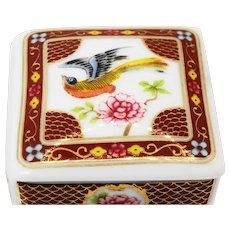Vintage del pardo cloisonne enamel trinket box