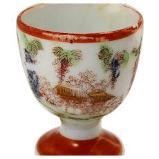 Early Japanese handpainted egg cup