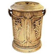 Vintage faux wood ice bucket