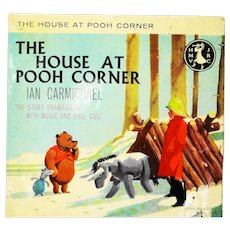 """A.A Milne the house at pooh corner 7"""" yellow record"""