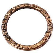 Victorian rose gold split ring/charm holder