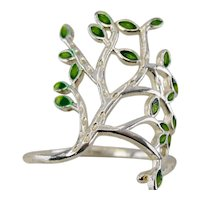 Beautiful vintage silver statement ring