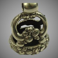 Interesting fob seal charm pendant engraved with fruit and harvest