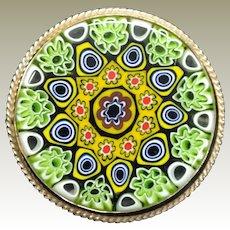 Vinatge Gold Filled Murano Glass Pin