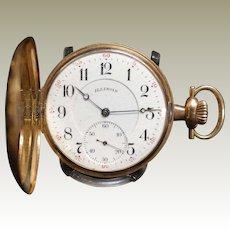 14K Gold, Illinois, vintage ,19 Jewel, double hunt case Pocket Watch