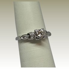 Vintage Estate Platinum Diamond Ring
