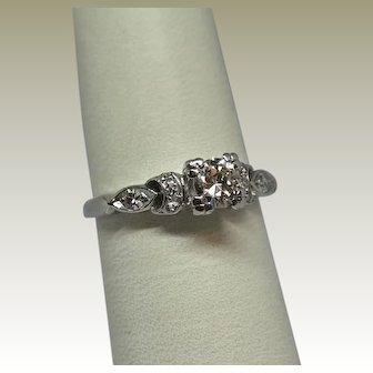 Vintage Estate Platinum Diamond Ring