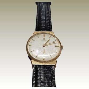 OMEGA Men's 14K Solid Gold Manual Hand-Wind,17 Jewel Swiss movement, Dress Watch