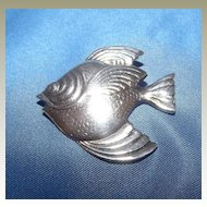 Sterling Silver Tropical Fish Pin