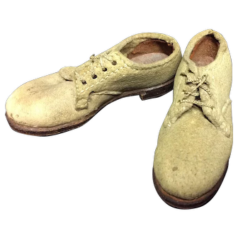 Miniature Sample White Buck Shoes