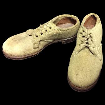Miniature Sample White Buck Shoes